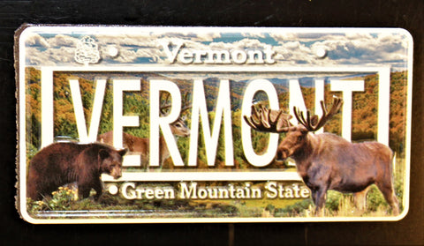 License Plate Bear/Moose Magnet