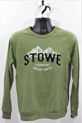Mtns Background Crew SS Army Green