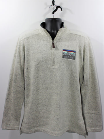 Seaport 1/4 Zip SS Salt & Pepper
