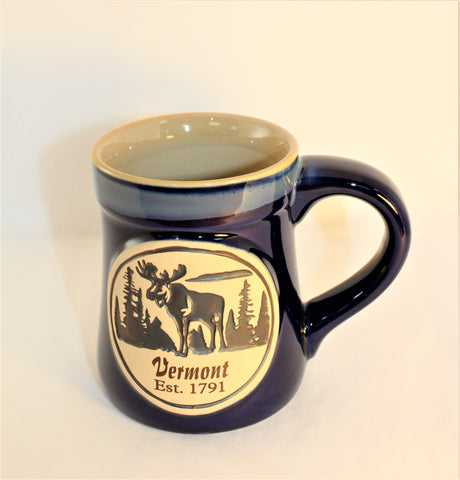 18oz Stoneware Mug- Blue Moose