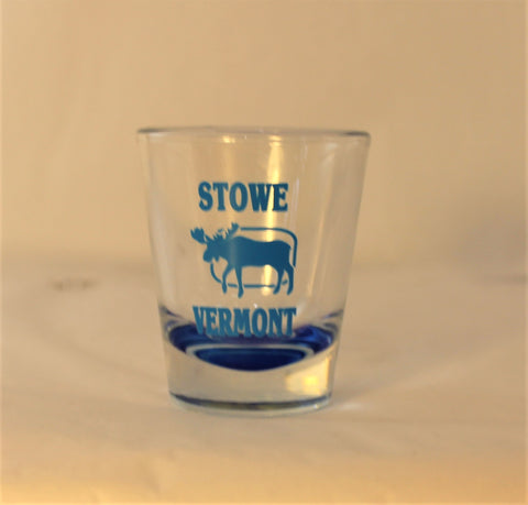 Stowe Moose Shot Glass Blue
