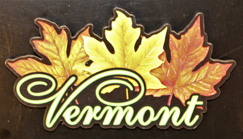 Vermont 3 Leaves Magnet