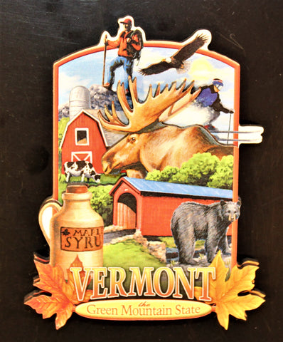 VT Collage Artwood Magnet