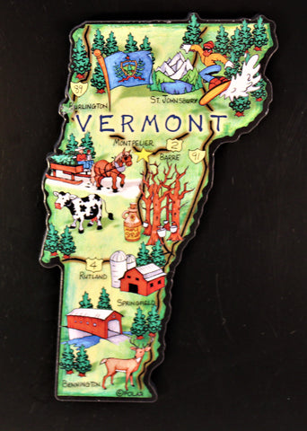VT Shaped Artwood Magnet