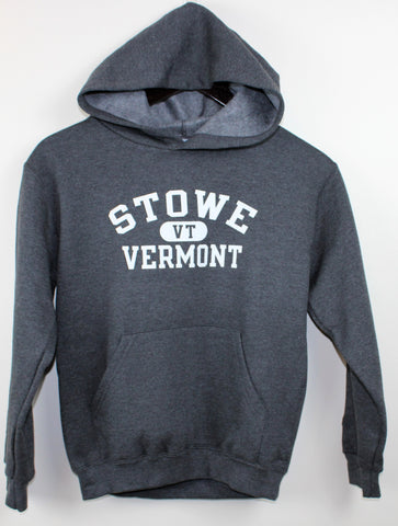 Kids Stowe Arch Hooded SS Charcoal