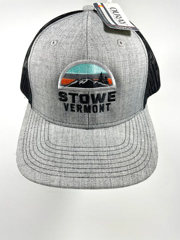 Snowy Meadow Trucker Cap Grey/Black