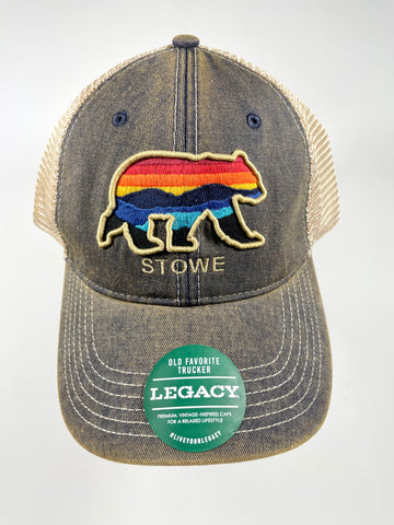 Stowe Horizon Bear Trucker Hat Navy