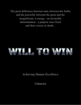 Will To Win Book