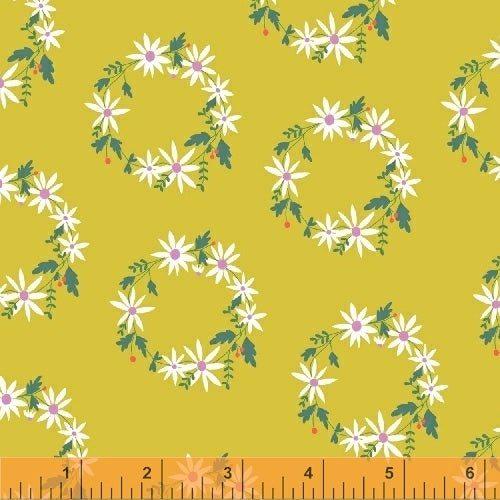 Daisy Chain - wreath yellow