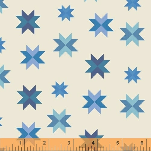Daisy chain - quilt star blue