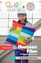 Load image into Gallery viewer, Quilt Cadets - Moonbeam pillow