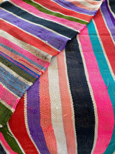 Load image into Gallery viewer, Stripe vintage Berber Moroccan rug/blanket