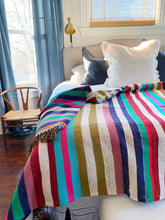 Load image into Gallery viewer, Fabulous Vintage Moroccan stripe blanket or rug.