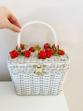 Load image into Gallery viewer, Vintage velvet strawberry sewing basket