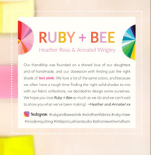 Load image into Gallery viewer, Ruby and Bee half-yard bundle