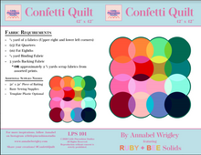 Load image into Gallery viewer, Confetti Quilt Pattern PDF download