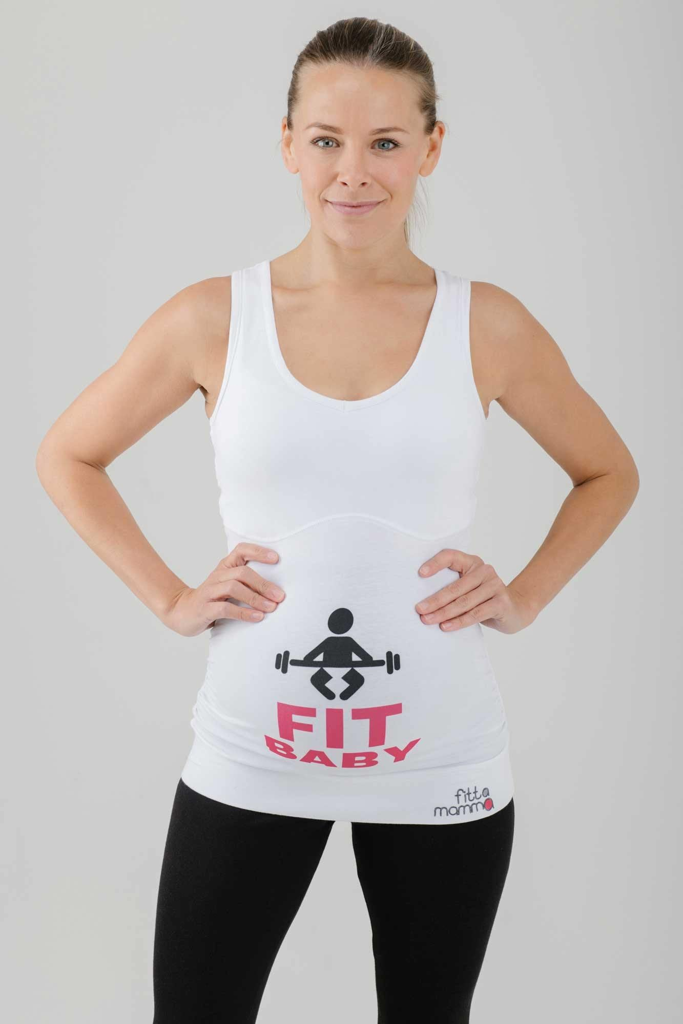 Fit Baby Maternity Workout Support Top - FittaMamma