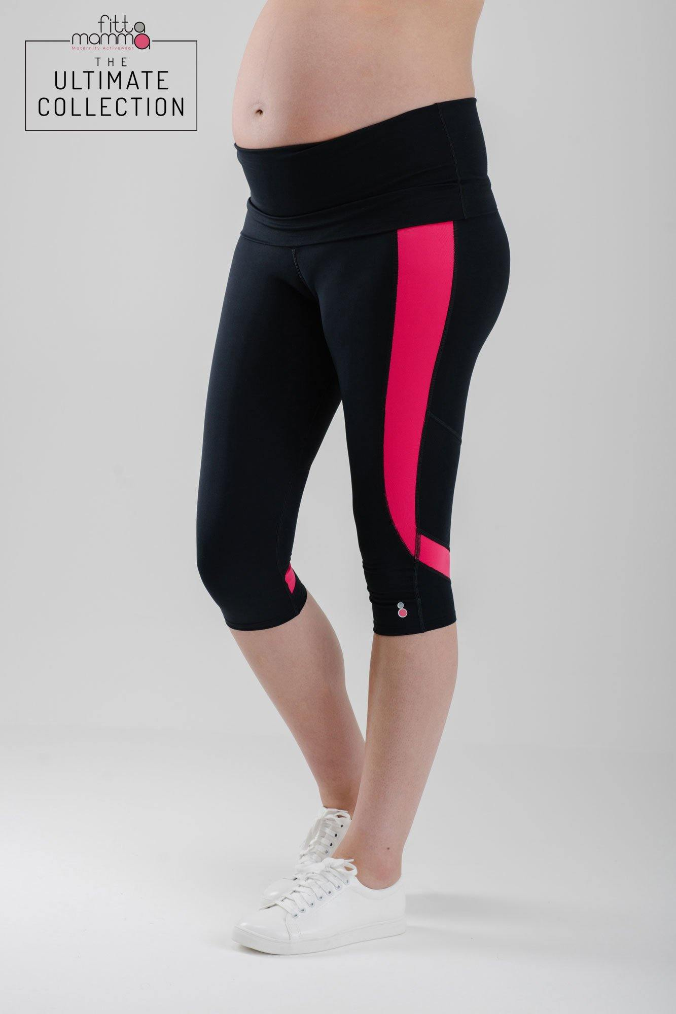 Ultimate Maternity Fitness Capri Leggings - FittaMamma