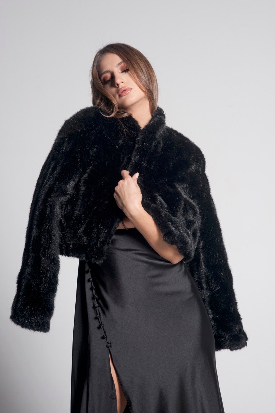 Belle Faux Fur Cropped Jacket