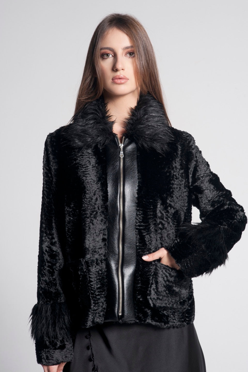 Giulia Mixed Faux Fur Jacket