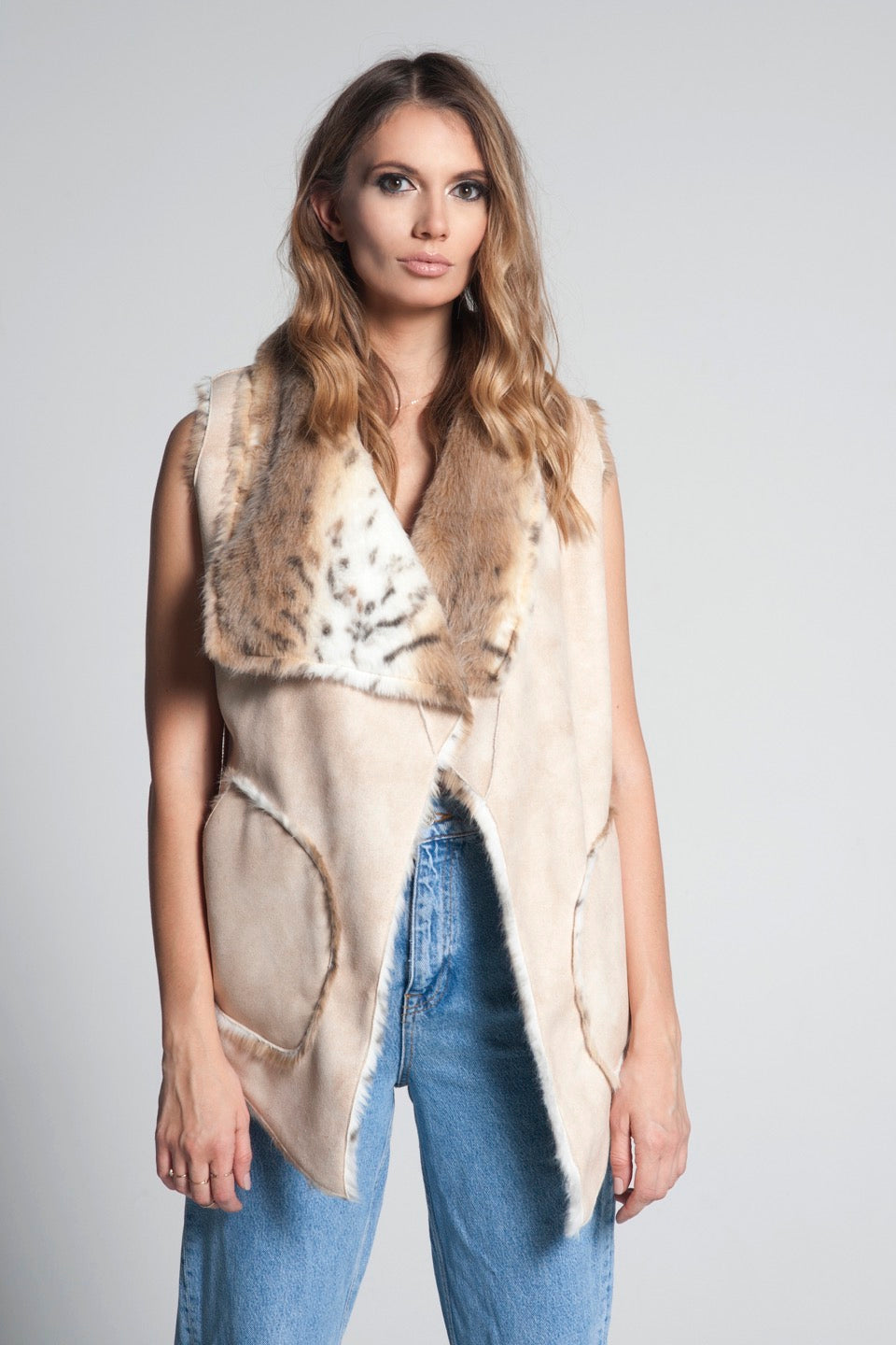 Double Face Faux Fur Vest