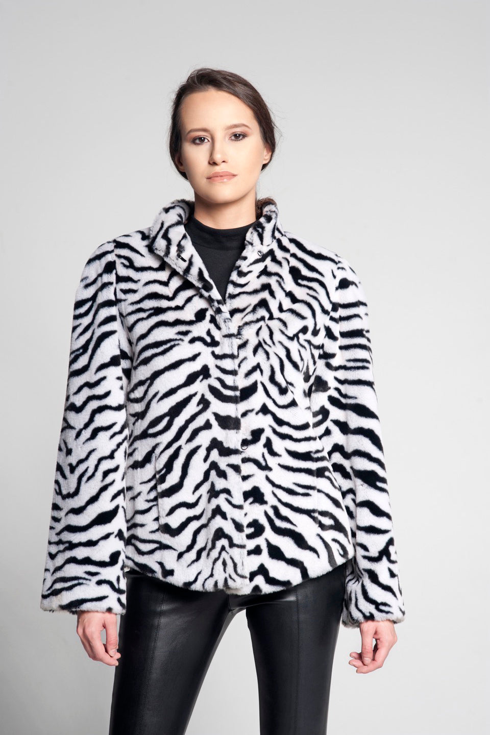 Zebra Baby Faux Fur Jacket