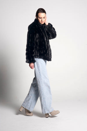 Sienna Mid Length Faux Fur Jacket
