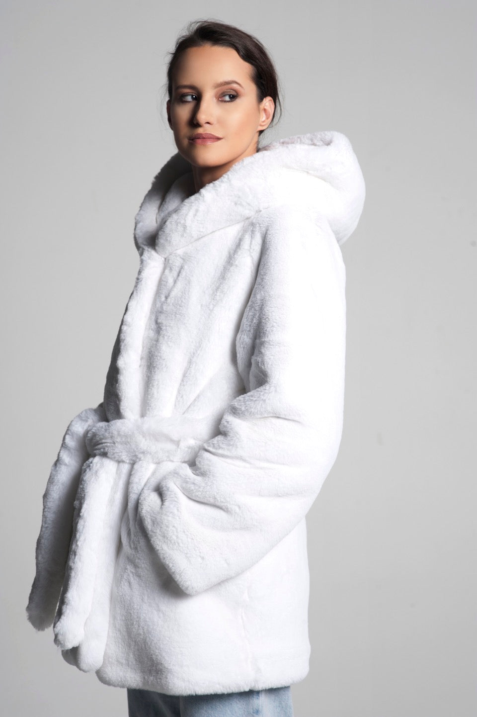 Alice Hooded Faux Fur Coat
