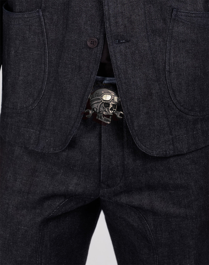 Marvin Skull Gun Metal Buckle
