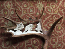 "Load image into Gallery viewer, COMING SOON - ""On the Prowl"" Carved Moose Antler - Lynx"