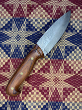 Load image into Gallery viewer, Ironwood & Damascus Knife - 8.5 inch