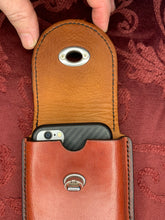 Load image into Gallery viewer, Leather Mobile Phone Case-Size 8-Mahogany/Dark Chocolate