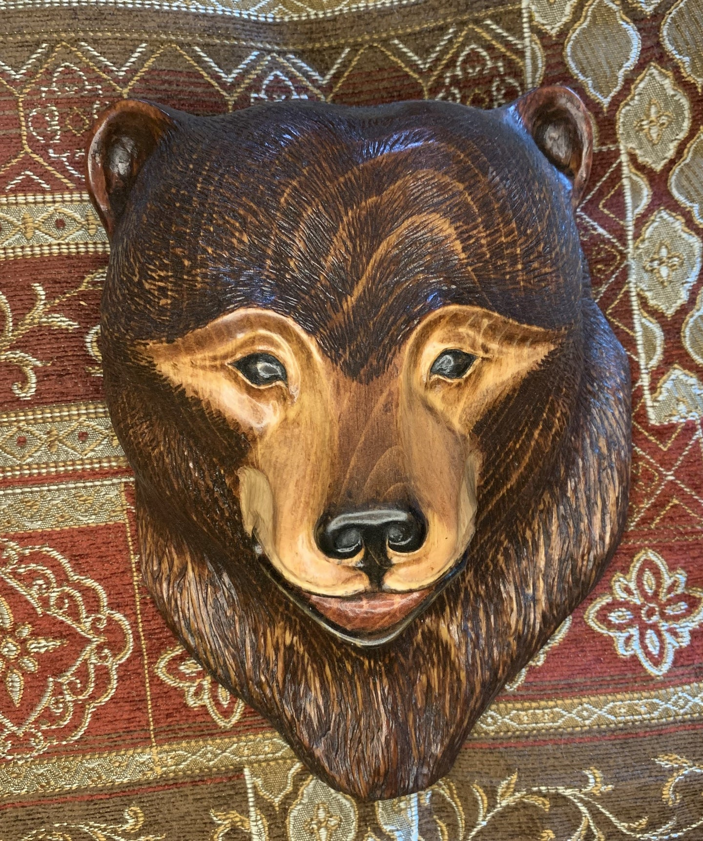 Cinnamon Bear Impression Wood Carving