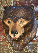 Load image into Gallery viewer, Cinnamon Bear Impression Wood Carving