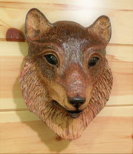 Load image into Gallery viewer, Wolf Impression Wood Carving