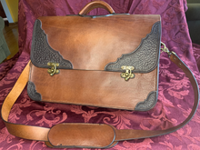 Load image into Gallery viewer, Western Leather Heirloom Briefcase/laptop Bag