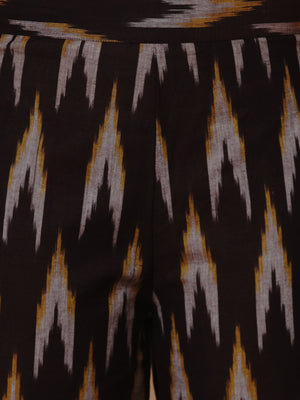 Load image into Gallery viewer, Brown ikat cotton harem pants-Pants-Fabnest