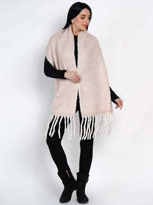 Load image into Gallery viewer, Fabnest Women Wool Blend Off White Scarf-Scarf-Fabnest