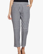 Fabnest Women's handloom cotton black and white check pants.-Trousers-Fabnest
