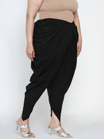 Fabnest women's cotton salwar in solid black-Salwar-Fabnest