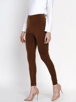 Fabnest Women's Coffee Winter Wear Acrylic Warm Bottom Wear-Pants-Fabnest