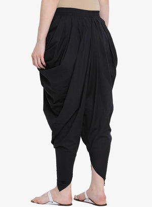 Load image into Gallery viewer, Fabnest womens cotton salwar in solid black-Salwar-Fabnest