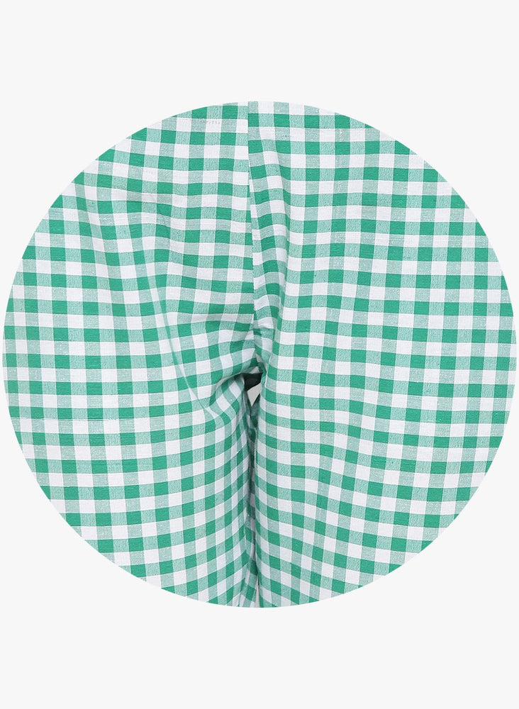 Load image into Gallery viewer, Fabnest womens handloom cotton green and white check pants-Pant-Fabnest