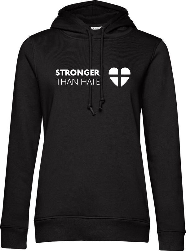 """Stronger Than Hate"" Damen Bio Hoodie"