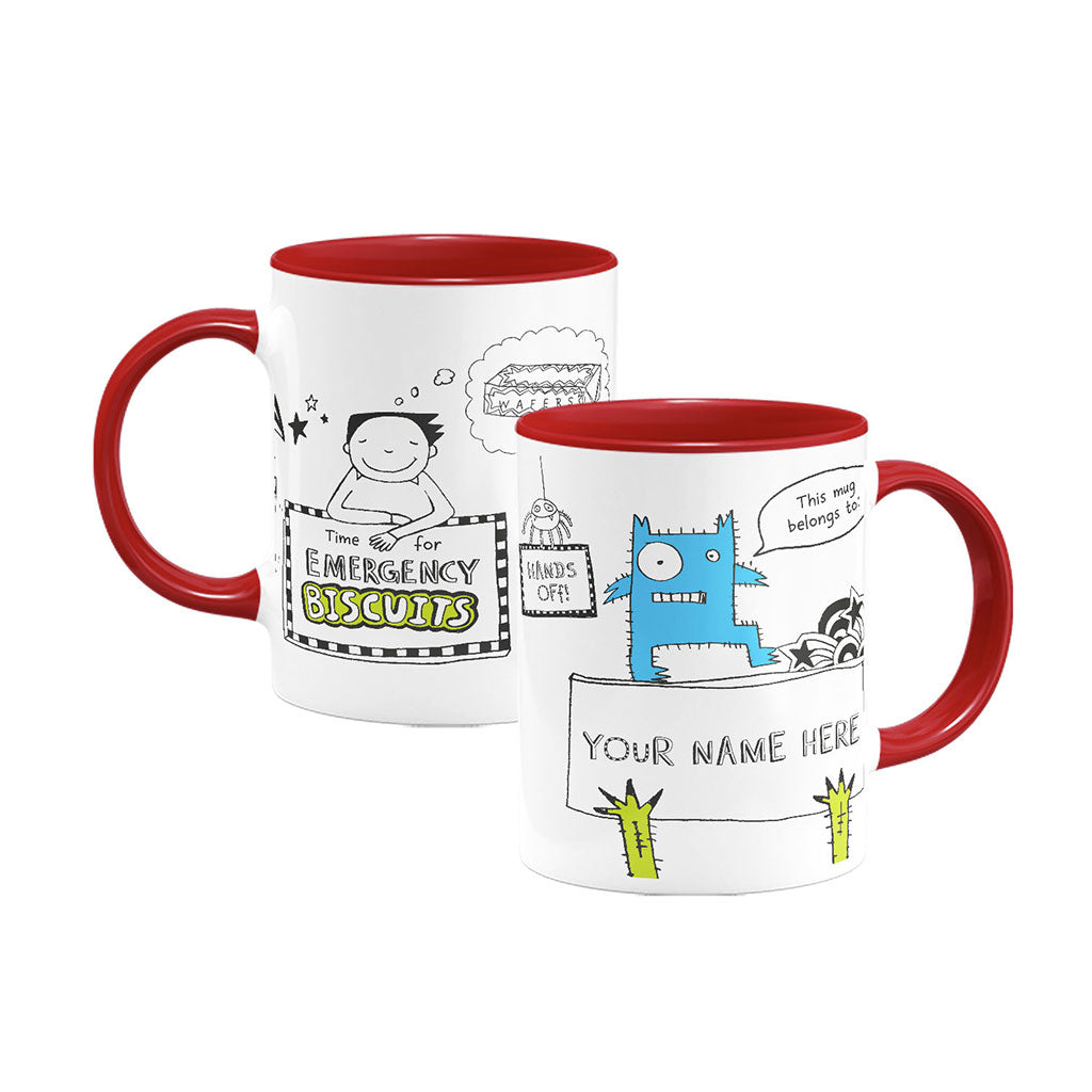 Personalised Emergency Biscuits Mug