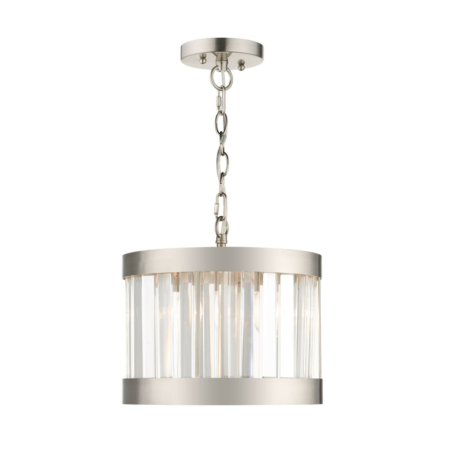 Magnalux Pandora 1 Light Crystal Pendant Satin Chrome