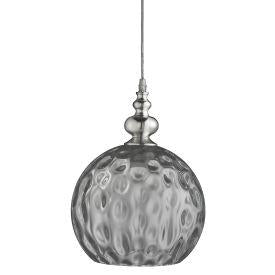 Searchlight 2120Sm Indiana - 1Lt Pendant, Chrome With Smoke Glass
