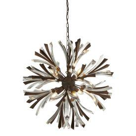 Searchlight 2576-6Br Shake 6Lt Pendant Bronze/Clear
