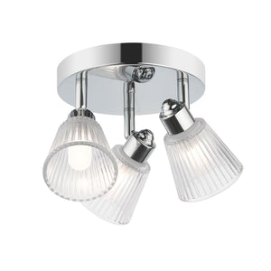 Magnalux Gatsby 3 Light Bathroom Ceiling Light Polished Chrome
