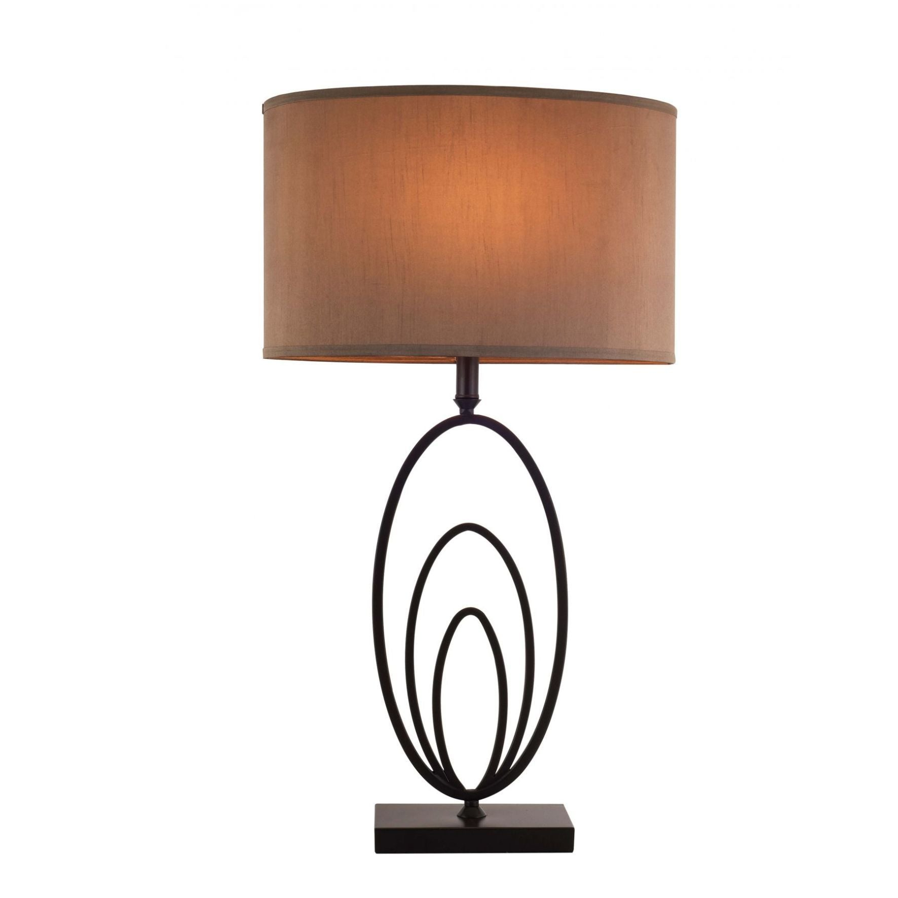 Magnalux Ovalo Oil Rubbed Bronze Table Lamp C/W Shade